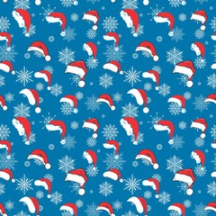 Blue santa hat pattern