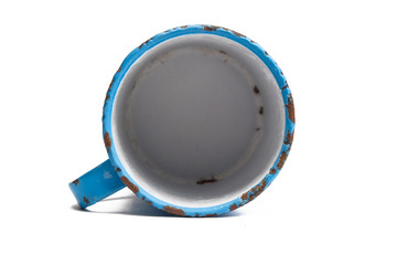 empty enamel jug