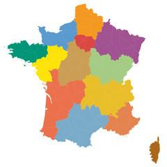 France à 13 régions