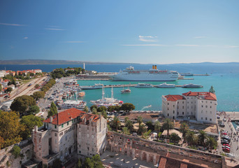 City and port on Mediterranean Sea. Split, Croatia