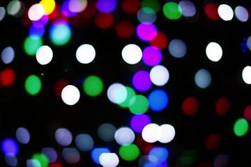 Bokeh lights of the Christmas tree.