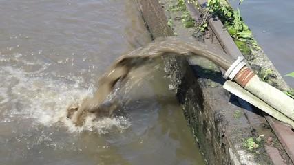 Sewage pipe polluting water 2