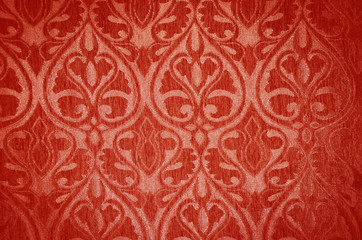 The texture of velvet fabric with a vintage pattern