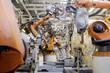 canvas print picture - Schweissroboter Autoproduktion Automotive