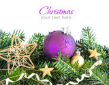 Fototapety Golden and purple Christmas decor
