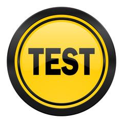 test icon, yellow logo,