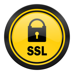 ssl icon, yellow logo,
