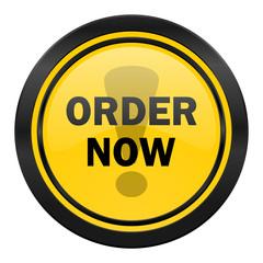 order now icon, yellow logo,