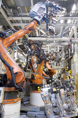 Roboter Auto Produktion