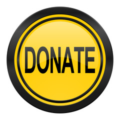 donate icon, yellow logo,