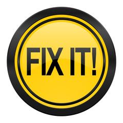 fix it icon, yellow logo,
