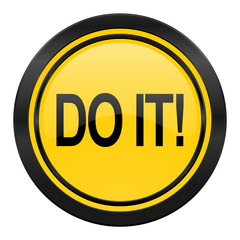 do it icon, yellow logo,