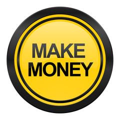 make money icon, yellow logo,
