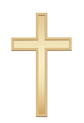 Golden cross. Vector