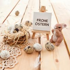 Osternest und Osterhase