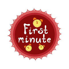 Badge First minute