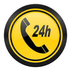 service icon, yellow logo,