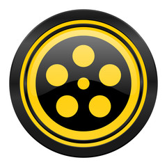 film icon, yellow logo,