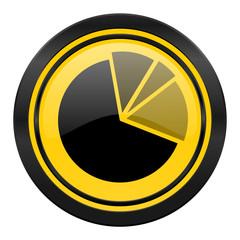 diagram icon, yellow logo, graph symbol