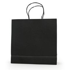 Black paper bag  , isolated