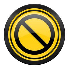 access denied icon, yellow logo,