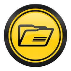 folder icon, yellow logo,