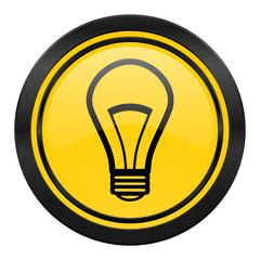 bulb icon, yellow logo, light bulb sign