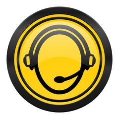 customer service icon, yellow logo,
