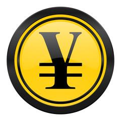 yen icon, yellow logo,