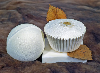 Still life pieces of gift soap