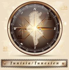 Karte von Tunesien