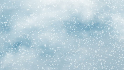 snowfall motion on a blue clouds sky backgrounds