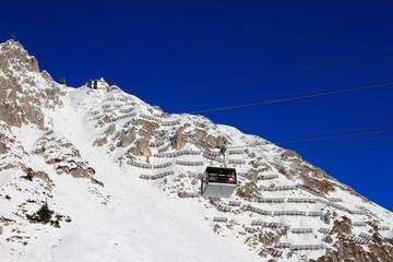 Suspended ropeway. Innsbruck, Austria