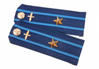 Shoulder straps major of russian air force