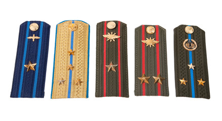 Different shoulder straps of russian army