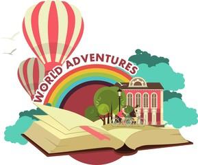 Open Book Trip To Fabulous Worlds Emblem