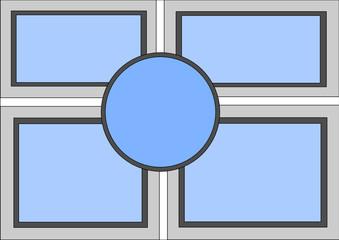 Hintergrund Fensterfront