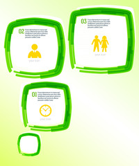 Template-flyer-green-bubble-effect-paint-brush