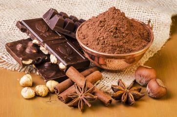 cacao con cioccolato fondente