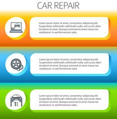 car-repair-service-horizontal-banner-set