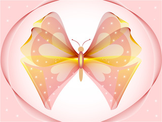 Illustrations fantastic butterfly. Abstract background