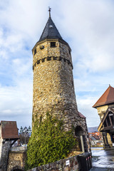 Part of the original drawbridge tower that lead to the castle in
