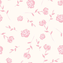 seamless background of watercolor roses