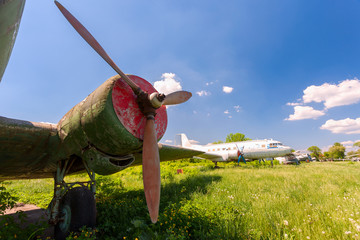 Old russian turboprop aircraft