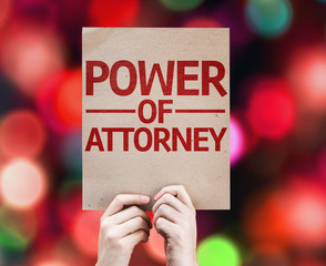 Power of Attorney card with colorful background