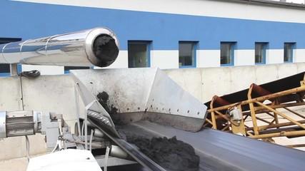 Sewage sludge at sewage treatment plant. 2