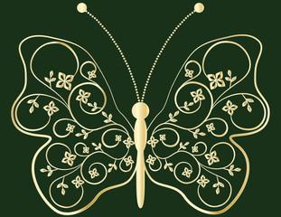 Schmetterling floral Golden