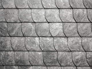 grey roof slate in harmonic pattern