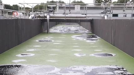 Sewage treatment plant. Waste water treatment plant.
