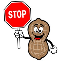 Peanut with Stop Sign